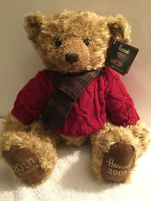 Harrods 2005 20th Anniversary Christmas Bear In Mint Condition