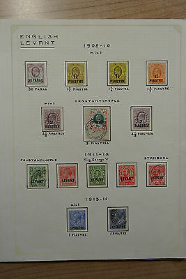 Lot 23967 Collection stamps of British Levant 1908-1925.