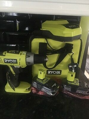 Ryobi ONE 18 V Cordless Hammer Drill With TWO 2.5 Amp Lithium Batteries