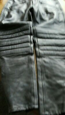 JTS  Leather Motorbike / Motorcycle Trousers Size 38