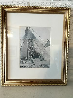 Period Picture from Shepps Photographs 1891 Indian Wigwam, Indian Territory