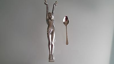 Art Deco Antique Diana Lamp Centre Figure, Plated Over Brass Good Condition.