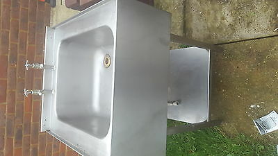 single bowl stainless steel commercial sink