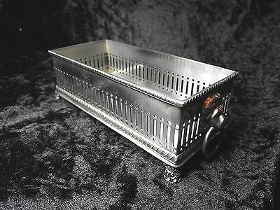 Vintage Silver plated Lions Head Footed Biscuit Tray