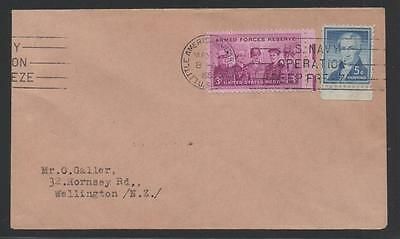 Usa 1956 Cover From Little America Antarctica To New Zealand