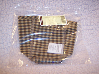 Longaberger PEN PAL BASKET LINER KHAKI CHECK - RETIRED