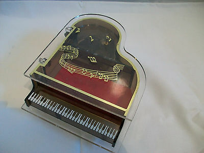 vintage musical PIANO jewellery trinket box Music The Way We Were 60's