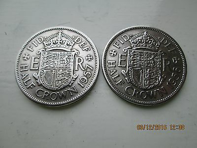 1957 and 1956 Halfcrown Coins