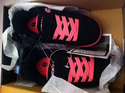 Black & Pink Heeleys Skates Trainers Size 13 New In Box
