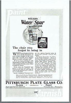 Vintage, Original, 1924 - Pitcairn Water Spar Varnish Advertisement