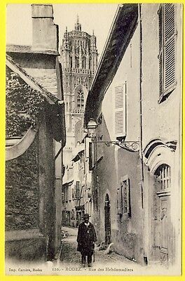 cpa 12 - RODEZ (Aveyron) Rue des HEBDOMADIERS