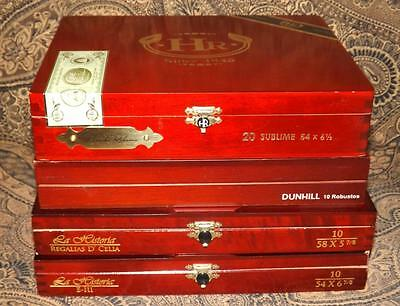 4 Premium Wooden Cigar Boxes Dunhill E.P. Carillo More Crafts Stoarge  Clocks