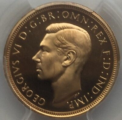 1937 gold proof half sovereign PCGS 65