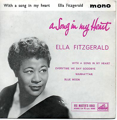 ELLA FITZGERALD - Song in my Heart -  EP mono