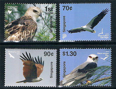 Singapore 2016 Birds of Prey 4v set MNH