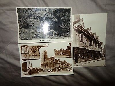 Ipswich Gainsborough Lane Real Photo 1912 Vintage Postcard people M&RC 1-E
