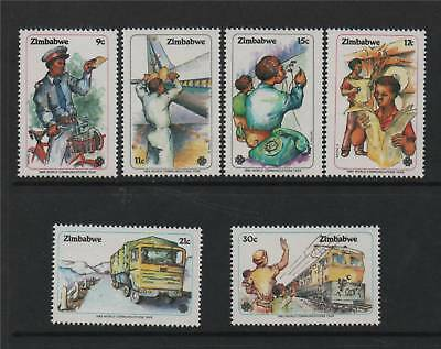 Zimbabwe 1983 Communications Year SG 630/5 MNH