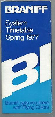 BRANIFF AIRLINES 1977 SYSTEM TIMETABLE with route map