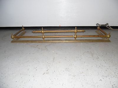 Antique Brass Fireplace Fender Guard Ball & Rod Design