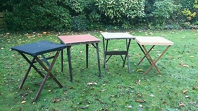 4 Vintage Folding Card Tables, Games Tables, ideal for Carboot, Antique Fair ect