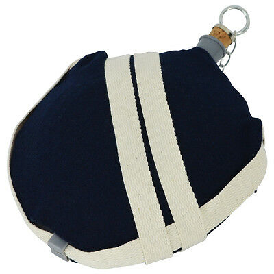 US Civil War Reenactor U.S. Union Army Soldier Large Canteen Sky Blue Wool Cover