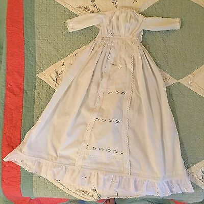 Edwardian Victorian Christening Baptism Gown Baby Holiday Dress  0 - 12 Months