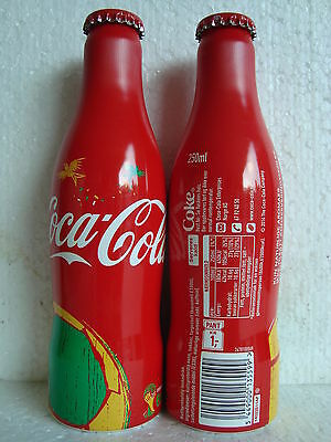 """Rare Coca Cola """"WORLD CUP SOCCER BRAZIL"""" aluminium bottle from NORWAY 2014"""