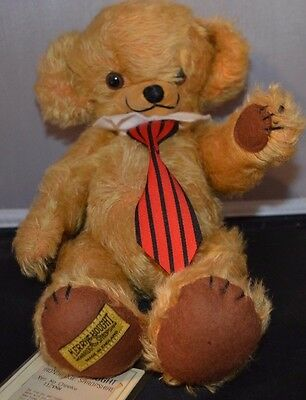 """LIMITED EDITION MERRYTHOUGHT PURE MOHAIR 12"""" Yes No Cheeky Teddy Bear with Tags"""