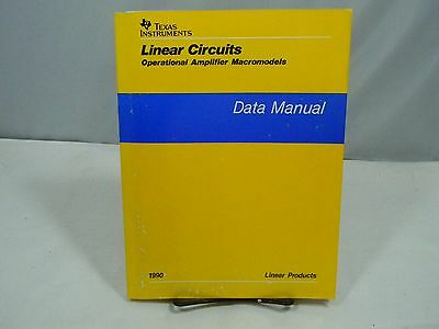 Texas Instruments Linear Circuits Operational Amplifier Macromodels Data Manual