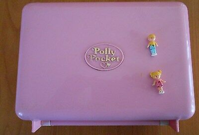 RARE Polly Pocket BLUEBIRD 1989 Disco Cassette Play-set + 2 personnages  -P75