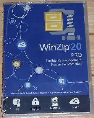 Brand New Boxed WinZip 20 Pro File Management File Protection Free Shipping