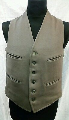 """Mens Vintage Dunn & Co Wool Waistcoat Size 40"""" Chest Approx"""