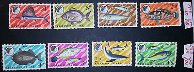 Ascension 1968-69 two complete sets MNH CV EUR 17,5 sea fishes