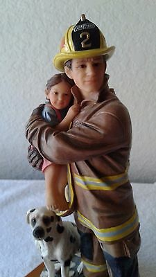 """Firefigher Up For The Challenge Sculpture, Figurine Approx; 8.75"""" h x 4.25"""""""