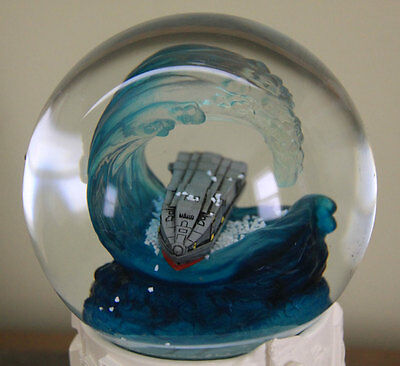 2012 movie official snow globe RARE John Cusack SURF GIANT WAVE Woody Harrelson