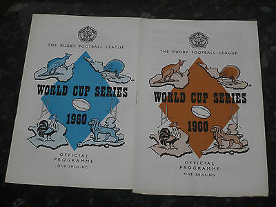 2 x Rugby League World Cup Series Programmes - Dated 1960