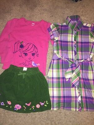 Gymboree Girls Falling For Feathers 3 Piece Lot. Size 6 7