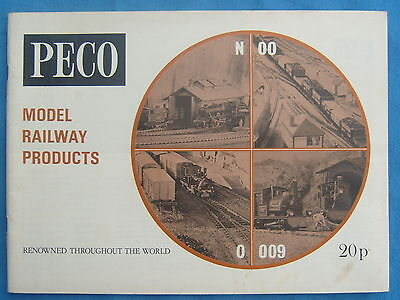 Peco Model Railways Catalogue 1971 with separate price list Free P&P to UK