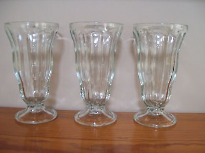 3 - Anchor Hocking - Tall Sundae Glasses