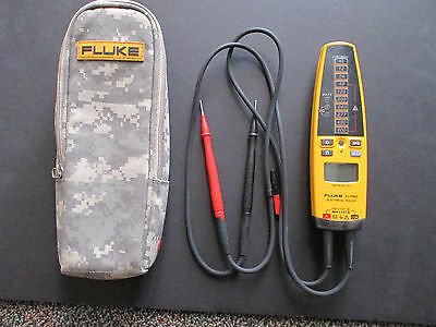 Fluke T+Pro Electrical Tester with digital camo belt carrying case