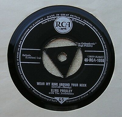Elvis Presley  - ' Wear My Ring Around Your Neck '  (1958)  Tri Rca 1058