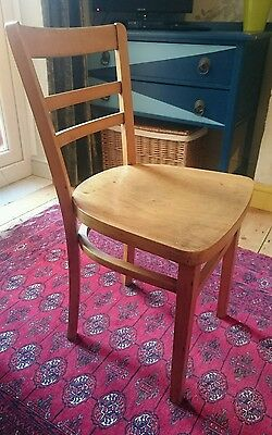 vintage wooden ply dining chair mid-century