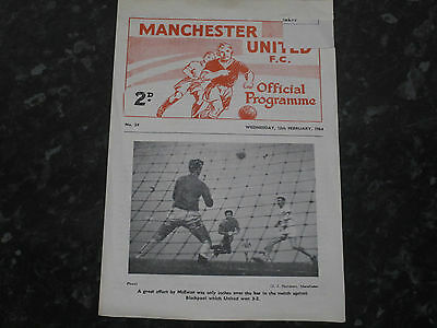 Manchester Utd Youth v Sheffield Utd Youth FA Youth Cup 4th Rd - 1963/64