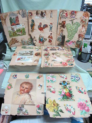 95 pcs on Victorian Scrap Book Pages Children, Woman  Advertising  +
