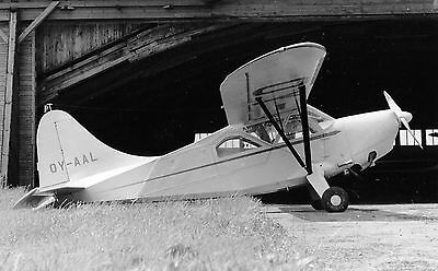 Stinson V-76 Sentinel, OY-AAL; original photograph
