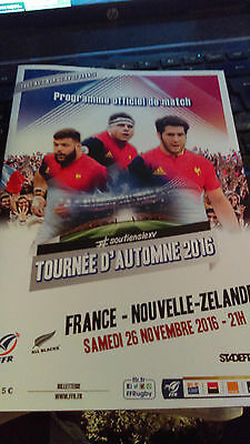Official Rugby Programme France-New Zealand All Blacks 26.11.2016