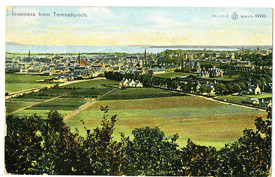 Vintage postcard Inverness from Tomnahurich, Scotland. 02191