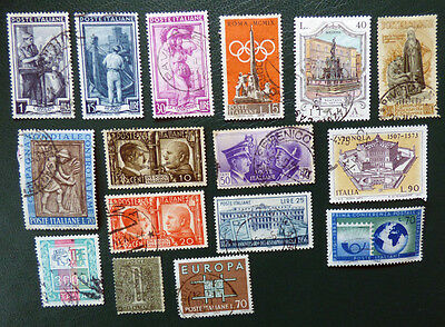 Italy selection of x16 stamps
