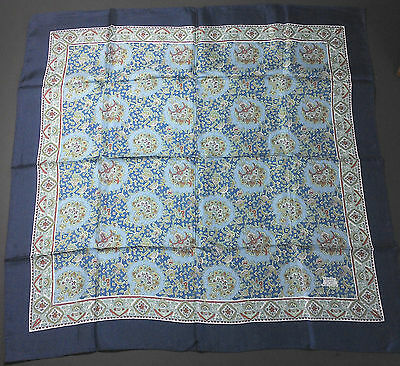 Vintage blue Liberty silk scarf - never been used