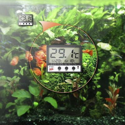 LCD Digital Fish Tank Aquarium Thermometer Meter High/Low Temperature Alarm V9O6